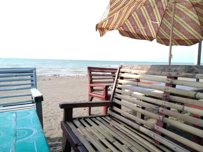 Pantai widuri pemalang area sirkuit pohon cemara