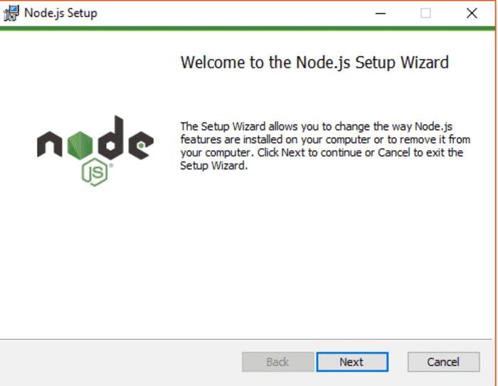 installasi nodejs dengan panduan gambar