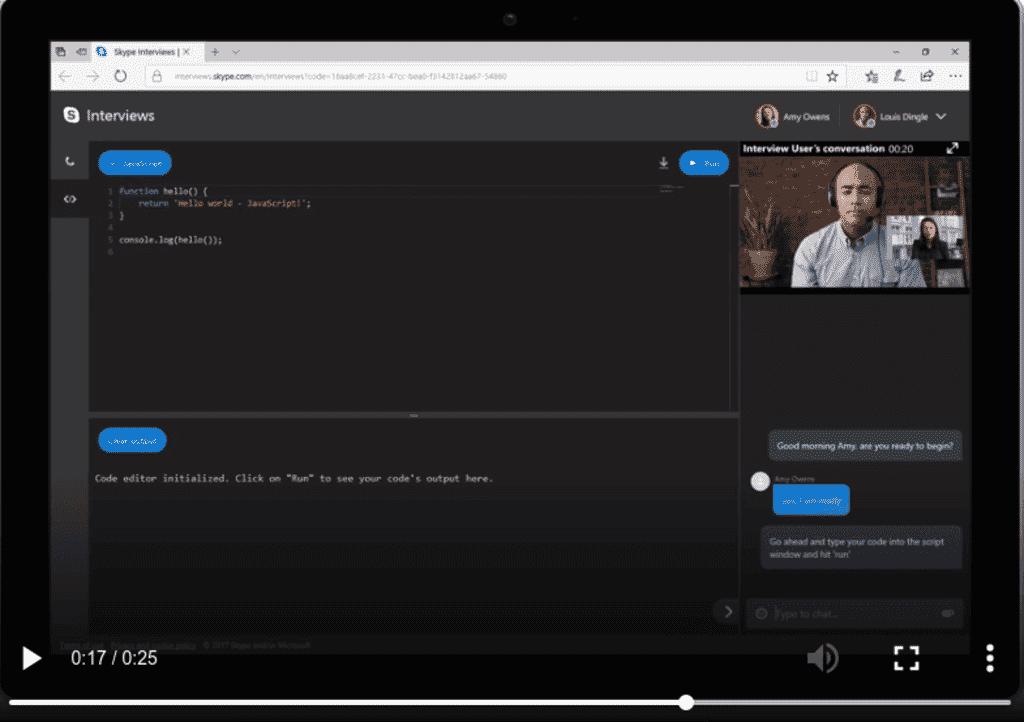 """Skype Memperkenalkan Fitur  Barunya """"Interviews"""" Untuk Developer Menggunakan Real-time Code Editor"""