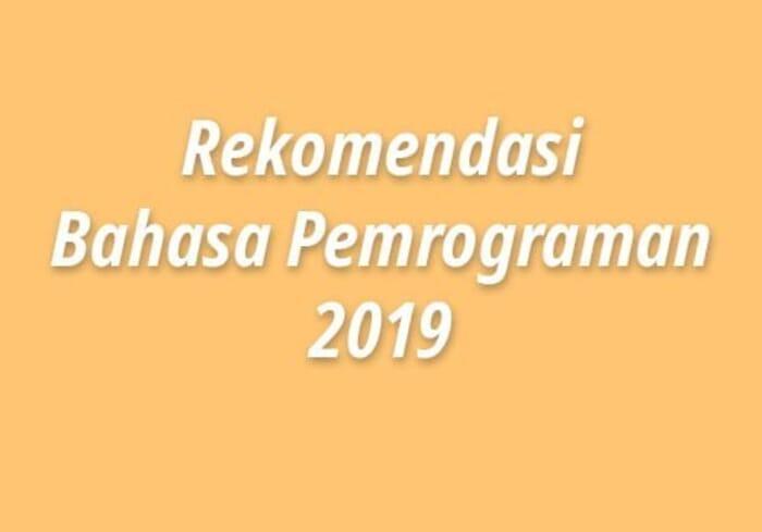 bahasa pemrograman tahun 2019